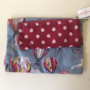 Cath Kidston pouch set with Hot Air Balloons